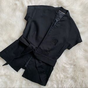 BANANA REPUBLIC Black Wrap Top - 0